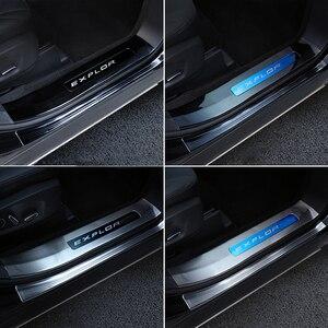 Накладки на пороги автомобиля, наклейки на педали, защита от царапин, тюнинг автомобиля, аксессуары для Ford Explorer