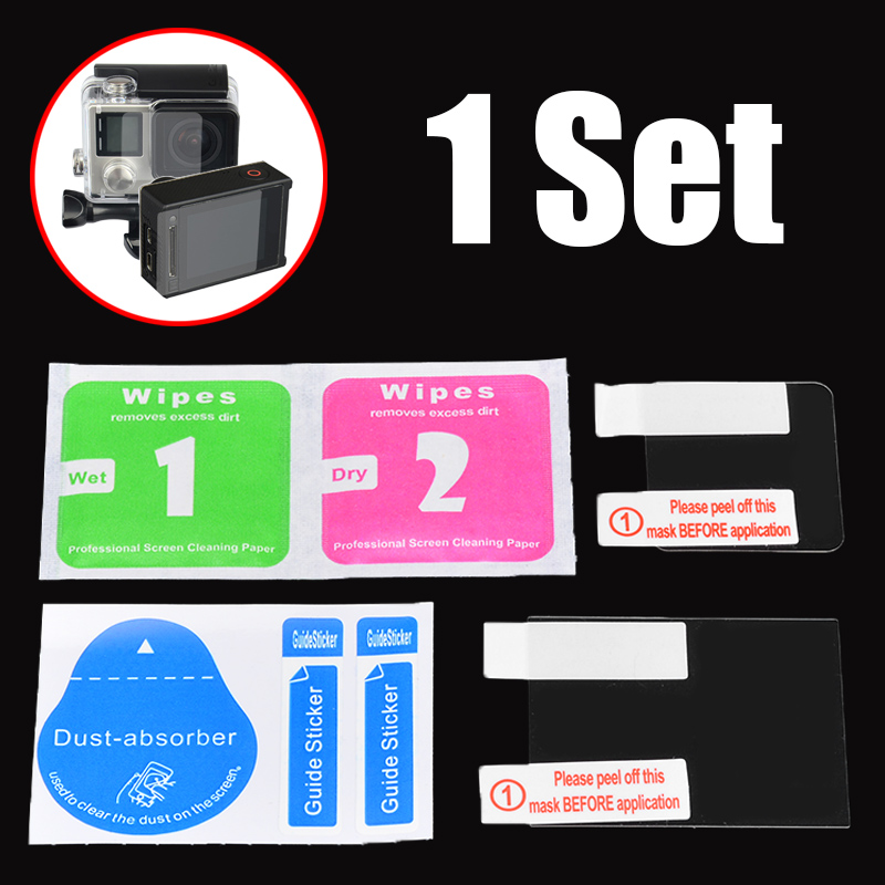 Mayitr High Quality LCD Screen Protector + Waterproof Housing Case Lens Protective Film For GoPro Hero 4 Accessories|for gopro hero|gopro hero 4 waterproofcase gopro waterproof - AliExpress