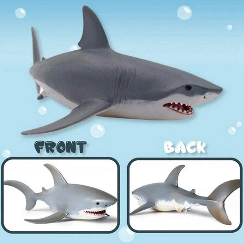 Lifelike Shark Shaped Toy Realistic Simulation Animal Model for Kids
