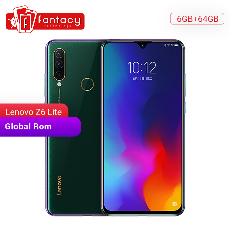 Global ROM Lenovo Z6 Lite 6GB 64GB Snapdragon 710 Octa Core Smartphone 6.3 Inch Screen Triple Camera Android 9.0 Quick Charge