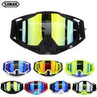 SOMAN Motocross Goggles Dirt Bike Helmet Goggle Glasses Oculos Motorcycle Goggles Motocross Googles Lunette Motorcycle Glasses