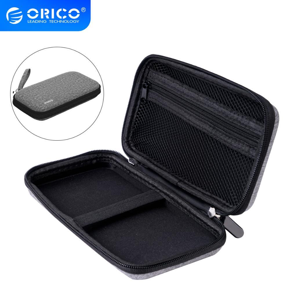 ORICO sert çanta taşınabilir güç kaynağı kılıfı için 2.5 inç sabit Disk USB kablosu şarj cihazı harici depolama HDD kutusu çantası