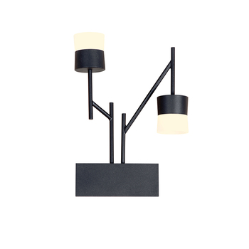 Lamplo double head LED Wall Lamp Nordic Acrylic Bedside Wall Lighting Bedroom Living Room 7W Warm White New Wall Mounted Sconce