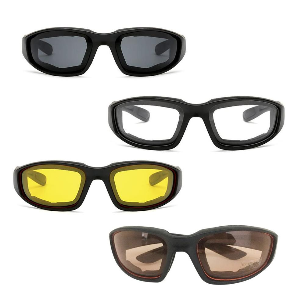 Windproof Motorcycle Glasses Men Vintage For Retro UV Motorbike Motor Goggles Outdoor Ski Cycling Riding Glasses