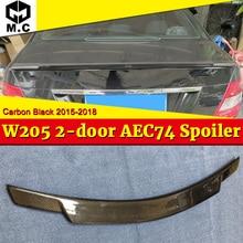 W205 2-doors Car Tail Spoiler Wing Carbon Fiber C74 Style For MercedesMB C-Class C180 C200 C250 C63 Rear Trunk Spoiler 2015-18 недорого