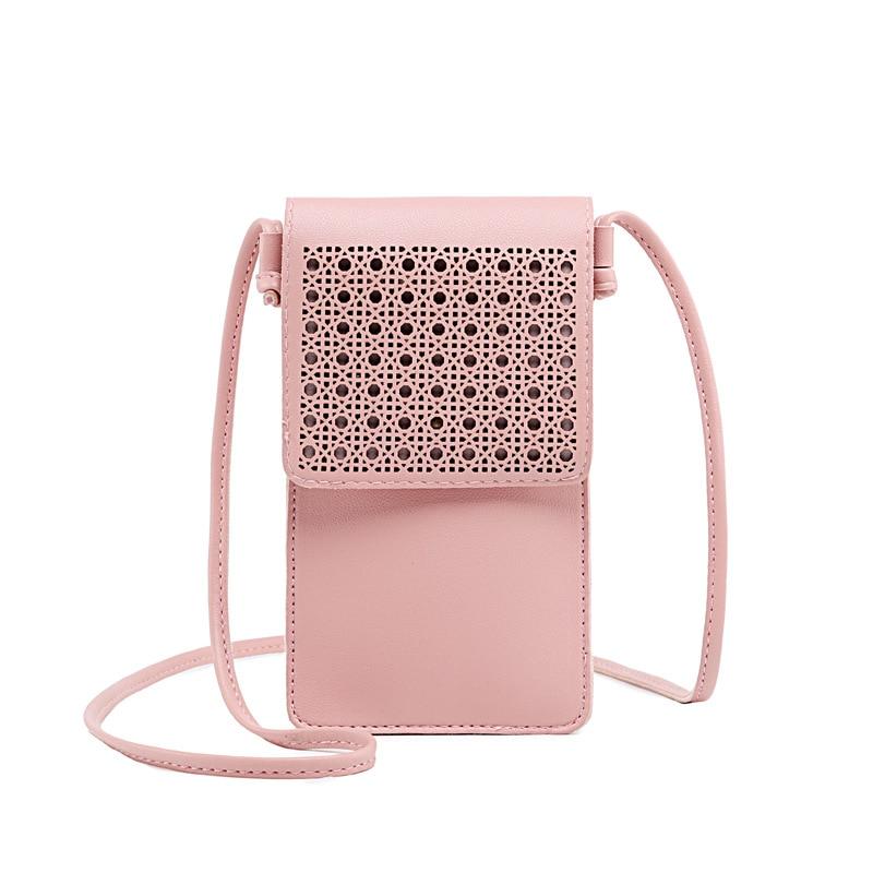 Miyahouse Mini Crossbody Bags Fashion Women Clutch Hollow Out Phone Bag Wallets Flap Touch Screen Phone Shoulder Bag
