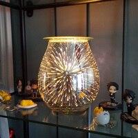 COOSA Glas 3D Wirkung Starburst Feuerwerk Elektrische Wachs Kerze Öl Wärmer Aromatherapie Weihrauch Brenner für Dekorative Büro-in Luftbefeuchter aus Haushaltsgeräte bei