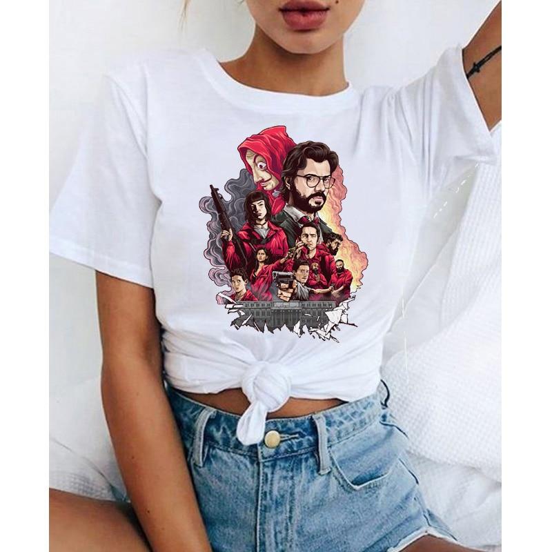 NANTE Top Cotton Print Blouse Round Neck Short Sleeve Modal T Shirt Women Vest Fashion Ladies Casual Tank Tops Shirts