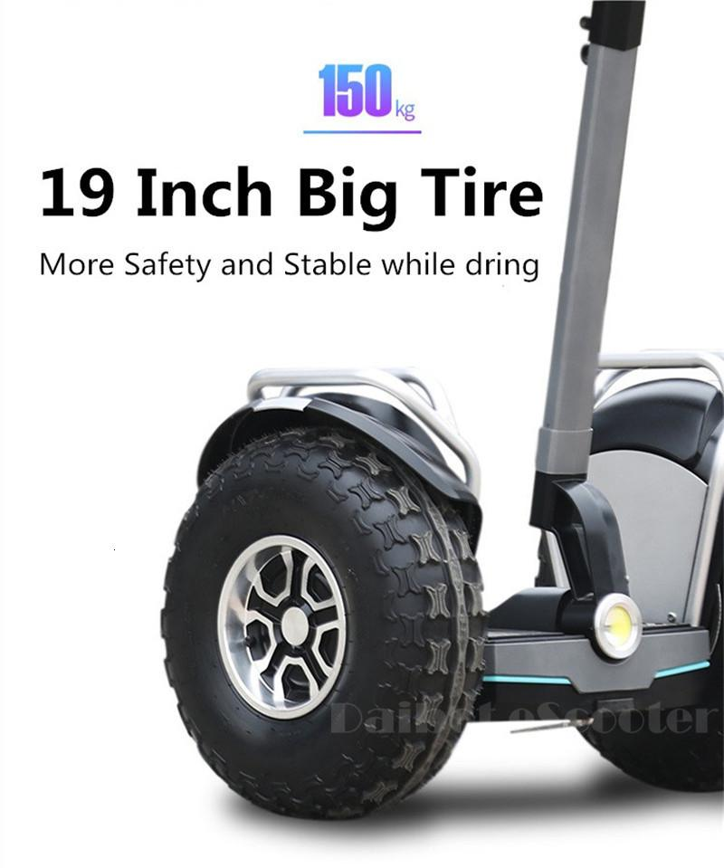 Daibot Powerful Electric Scooter 19 Inch Two Wheesl Self Balancing Scooters Off Road Hoverboard Skateboard For Adults (11)