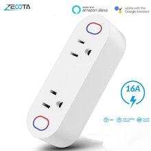 Wifi Smart Power Stecker Adapter Elektrische Steckdosen 15A Timing Schalter Energie Überwachung arbeit mit Alexa IFTTT Google Hause