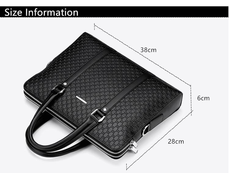 H4586c816bd2a450a94601f5c1fef03d1H New Double Layers Men's Leather Business Briefcase Casual Man Shoulder Bag Messenger Bag Male Laptops Handbags Men Travel Bags