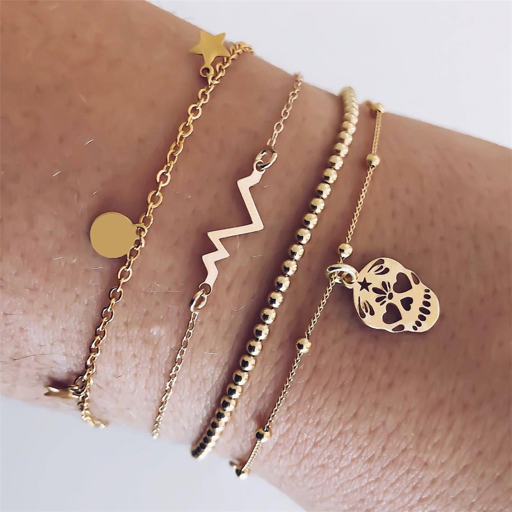 30 стилей микс черепаха сердце жемчуг волна любовь кристалл мрамор браслеты для женщин Бохо ювелирное изделие, браслет с кисточкой - Окраска металла: 3748