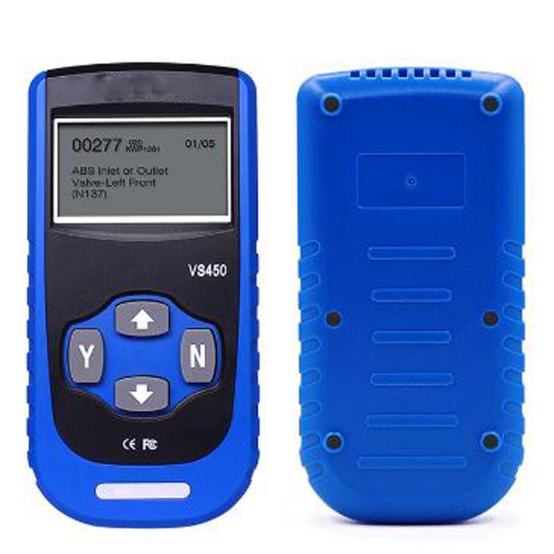 VS450 OBD2 Diagnostic Scanner ABS Airbag Reset OBD2 Auto Code Reader for <font><b>Vag</b></font> OBDII Code Reader Scanner Free Shipping image
