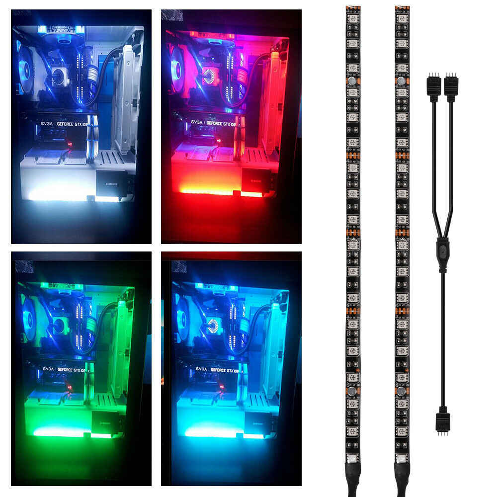 3pin 4pin Magnetic PC RGB Gaming LED Strip Lights Case Lighting for Aura Sync