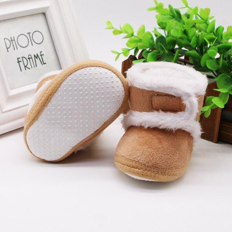 Chaud nouveau-né enfant en bas âge bottes hiver premiers marcheurs bébé filles garçons chaussures semelle souple fourrure neige chaussons pour 0-18M 3