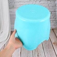 Stool Round for Living-Room Home Blue Anti-Slip Shaped-Design Anti-Slip