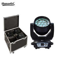 19x15w RGBW 4N1 Zoom DMX512 Led Moving Head with 4in1 fly case Wash Effect Professional Lighting 4pcs/lot