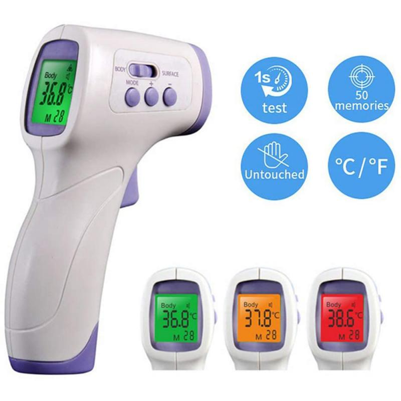 New Non-contact Body Thermometer Forehead Digital Infrared Thermometer Portable Non-contact Termometro Baby Adult Temperature