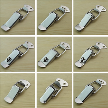 цена на Luggage buckle stainless steel padlock lock box buckle spring buckle manual toolbox bag buckle installation tool