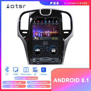 "Android 8.1 Tesla style 13.3"" Car DVD GPS navigation for Chrysler 300C 2013-2019 Car radio player Auto stereo head unit recorder(China)"