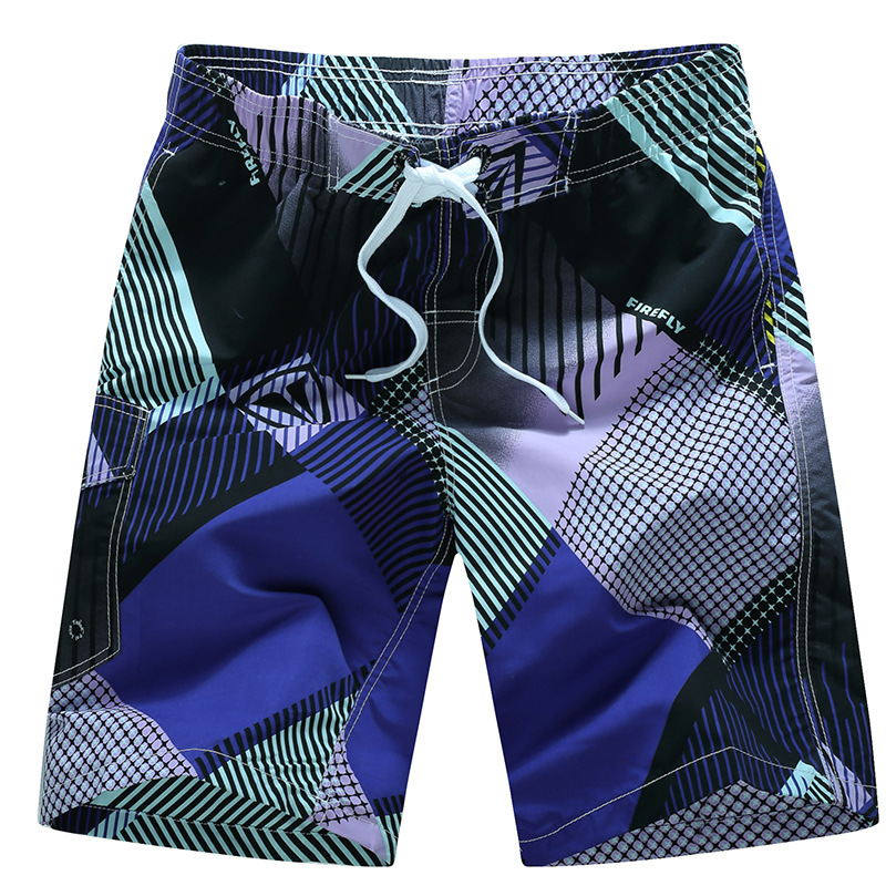 Summer Men's Casual Beach Shorts Loose And Plus-sized Surfing Quick-Dry Mixed Colors Male Fifth Pants Korean-style Youth Men's S