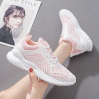 2020 autumn new Korean chic sneakers women increase breathable white shoes female travel daddy running shoes