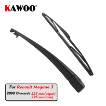 KAWOO Car Rear Wiper Blade Blades Back Window Wipers Arm For Renault Megane 3 Hatchback (2008 Onwards) 355mm Windscreen Blade