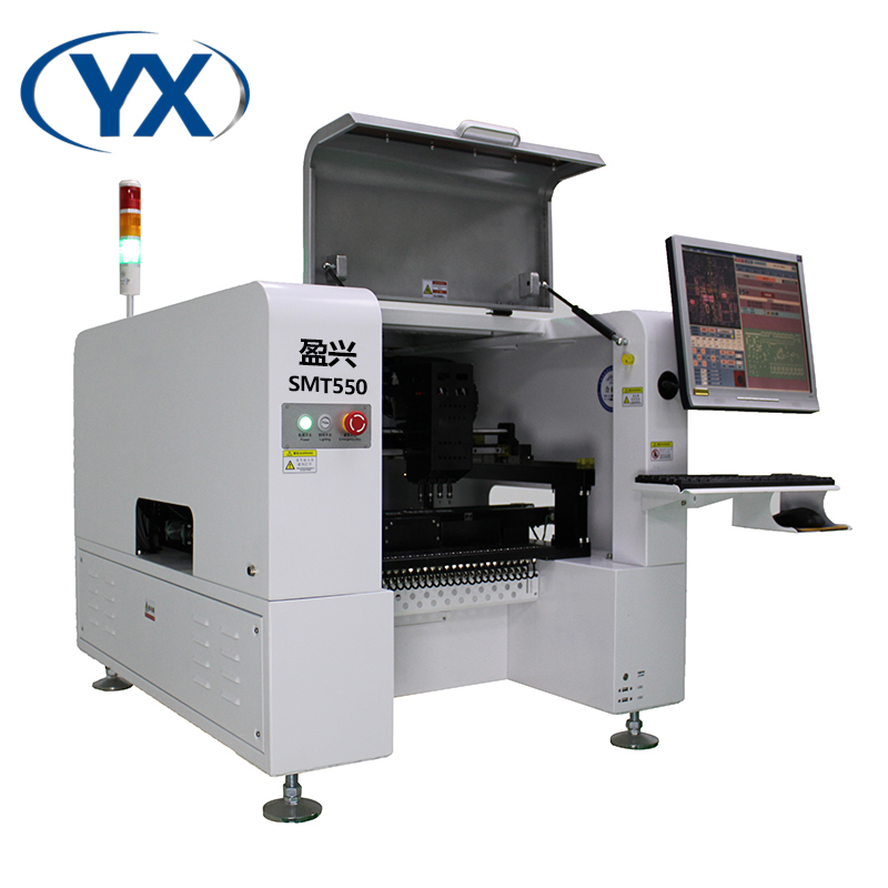 50 Feeders Chip Mounting Machine Pick and Place SMT SMD Soldering Machine with 4Heads and Servo motor