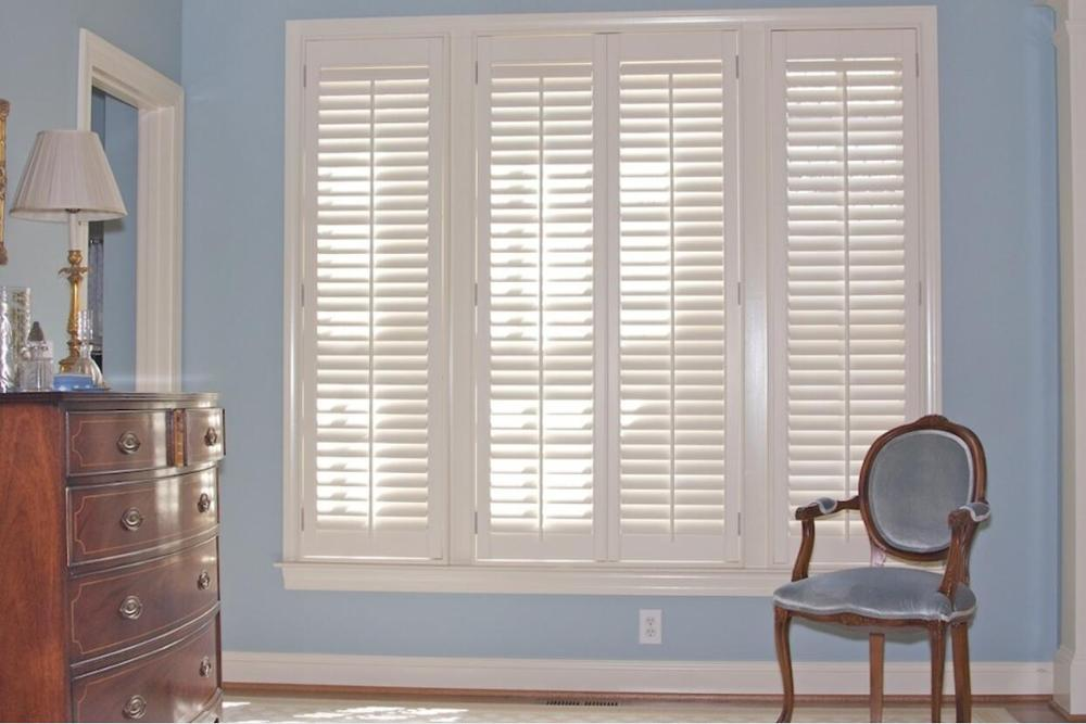 Custom Basswood Plantation Shutters Wooden Blinds Solid Wood Shutter Louvers PS273
