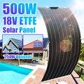 Солнечная панель в комплекте 500 Вт 250 Вт 18 в ETFE, внешний аккумулятор на солнечной энергии для телефона, автомобильного аккумулятора, уличная ...