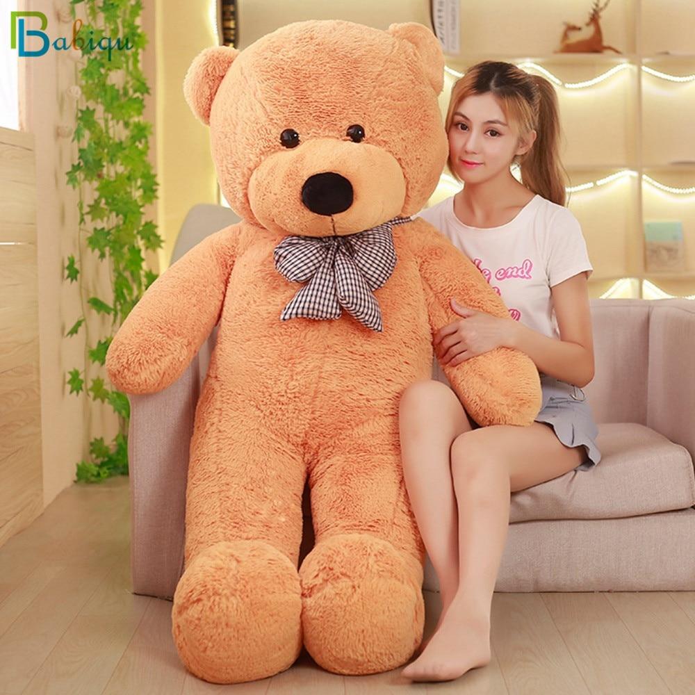 80-200cm barato gigante unstuffed vazio teddy bear pele casaco macio casca de pele grande semi-acabado de pelúcia poys clássico crianças boneca presente