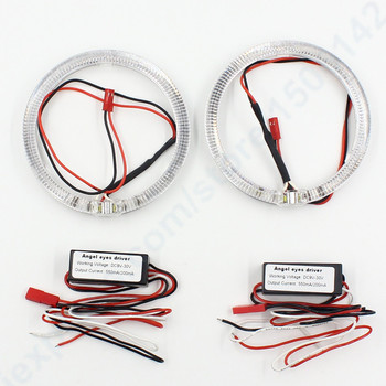 2pcs Auto 100mm led halo rings led chips 3 inch for Xenon Projector Lens angel eyes for E46 E39 E38 E36 headlight drl angel eye image