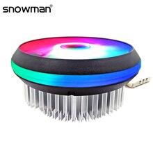 SNOWMAN chłodnica procesora RGB 120mm i3 i5 CPU radiator na Intel LGA 775 1150 1151 1155 AMD AM2 AM3 FM2 3 Pin wentylator chłodzący CPU PC cichy