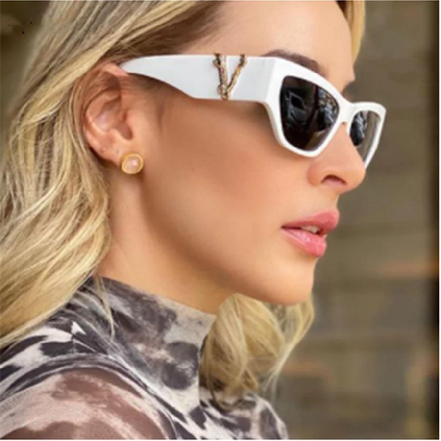 KarenHeather New Fashion Sunglasses Retro Square For Women Men Small Frame Cat Eye Glasses Luxury Designer UV400