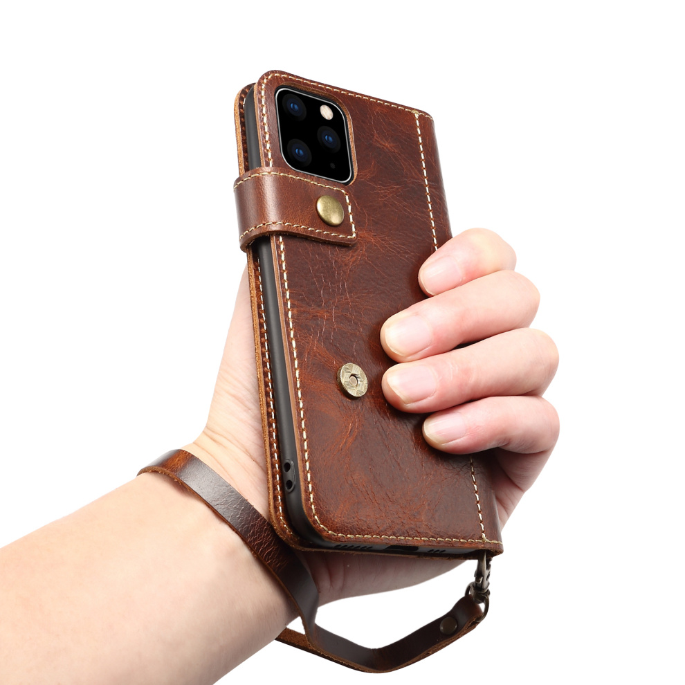 Premium Leather Magnet Button Flip Strap Case for iPhone 11/11 Pro/11 Pro Max 67