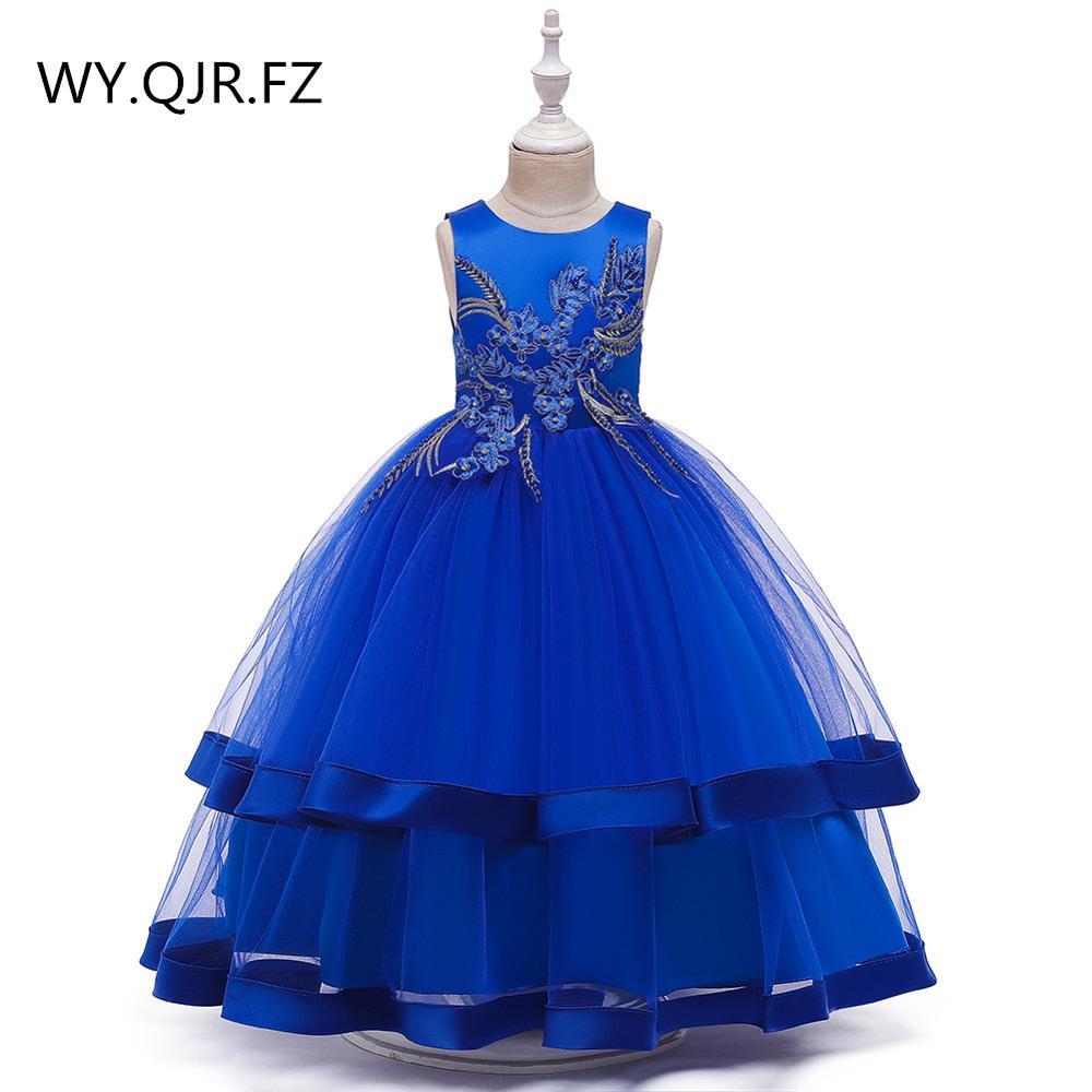 BH 5019 # детское платье костюм с цветочным узором для мальчиков длинные Бальные платья для свадебных торжеств недорогие платья для девочек кр
