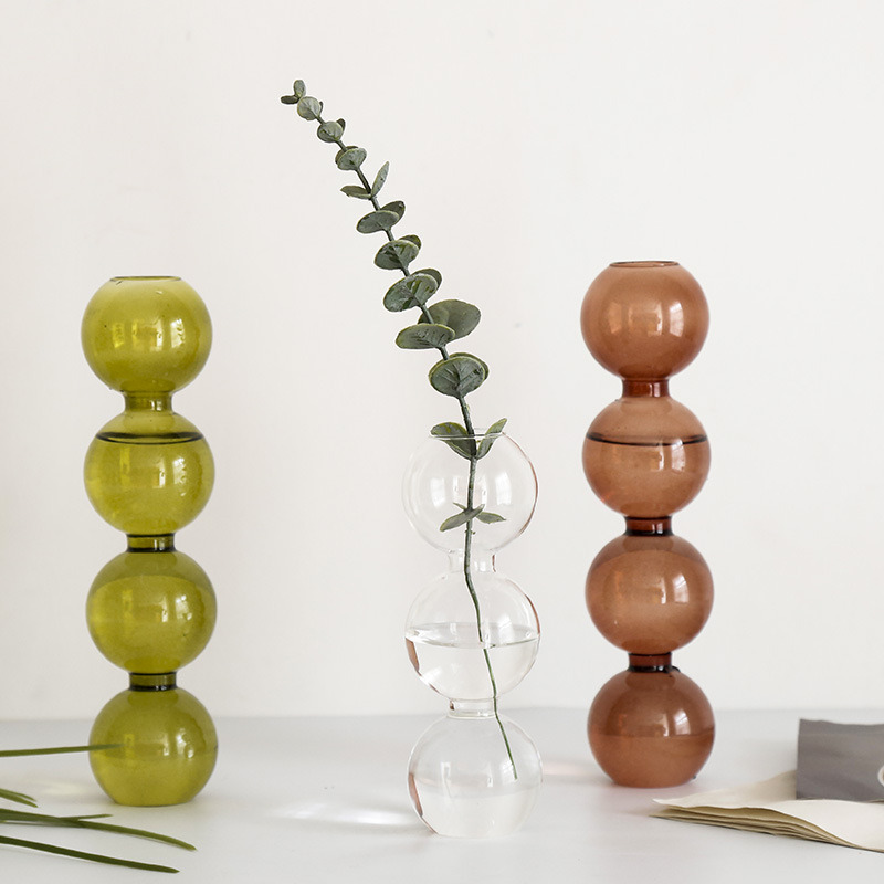 Vase en verre de décoration intérieure, Vase en cristal, plantes hydroponiques modernes, frais européens pour mariages, événements, fêtes créatives 3