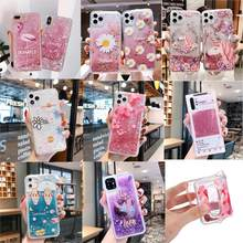 Floral Unicorn Flamingo Glitter Water Liquid Phone Case for VIVO X9 X9S X20 Plus X21 UD X21i X23 X23H X27 X30 Pro Soft TPU Cover(China)