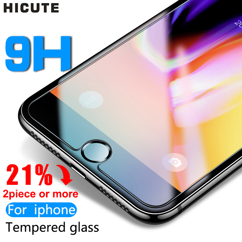 Protective Glass On The For IPhone X XS Max XR 11 Tempered Glass For IPhone 7 8 6 6s Plus 5 5S SE 11 Pro Max Screen Protector