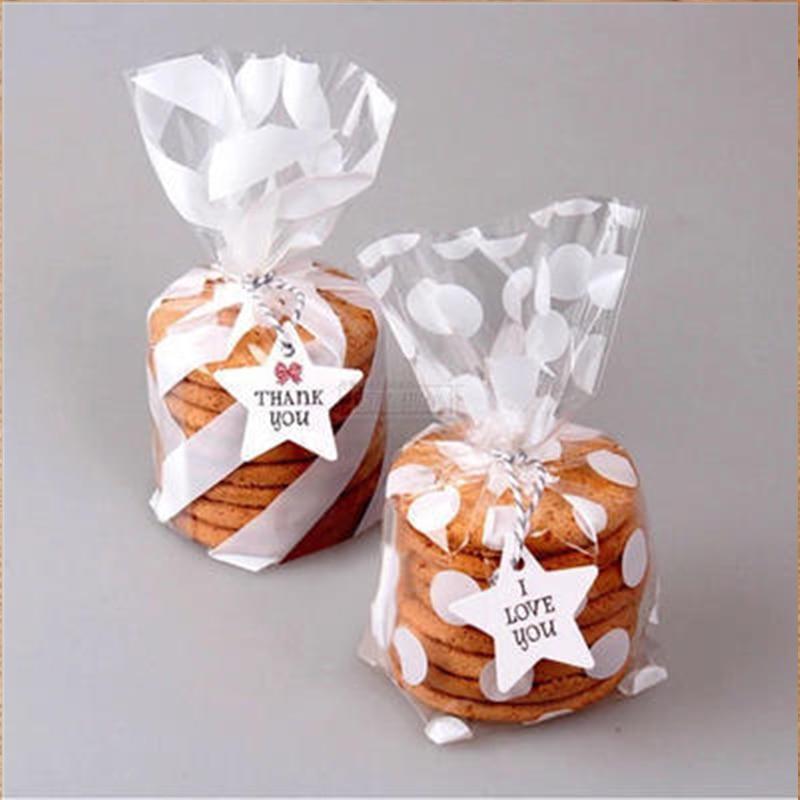 25 шт. пластик прозрачный конфеты печенье для приготовления попкорна сумки белая волнообразная короткая юбка в горошек Упаковка Мешок конди...