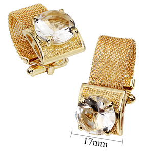 Image 4 - HAWSON Mens Cufflinks with Chain   Stone and Shiny Gold Tone Shirt Accessories   Party Gifts for Young Men