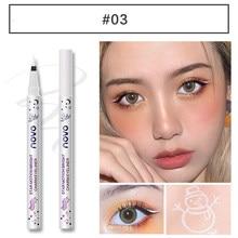 Colorido fosco líquido lápis delineador secagem rápida à prova dquick água maquiagem branco verde líquido olho forro olhos cosméticos maquiagem ferramenta tslm2