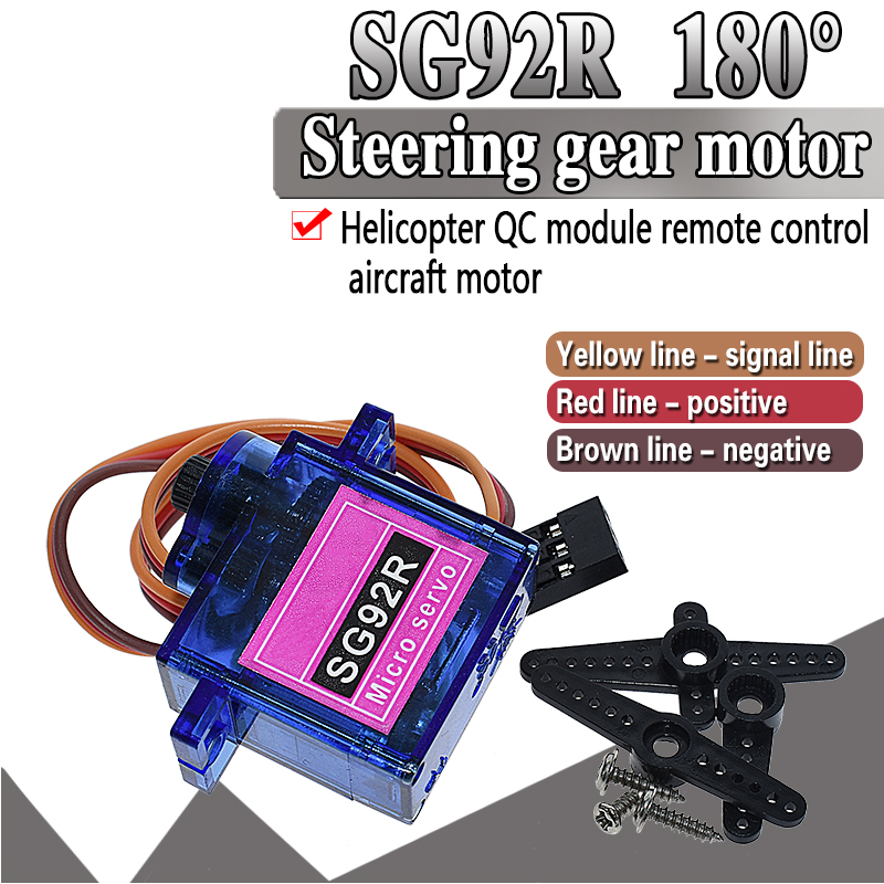 SG92R 2.5KG Micro 9g Servo Nylon Carbon Fiber Gears Replace SG90 For RC Model Aeromodelling Helicopter Parts