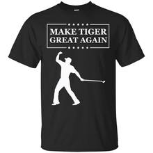 Make Tiger Great Again Funny Golf T Shirt Tiger Woods Golf Funny Mens Tee Shirt(China)