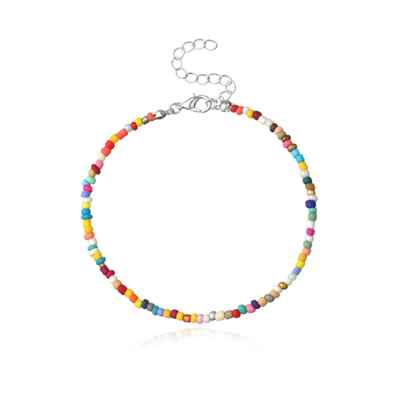 Fashion Colorful Beads Anklets for Women Bohemian Anklet Female Mix Beads Ankle Bracelet on Leg 2020 Summer Beach Foot Jewelry