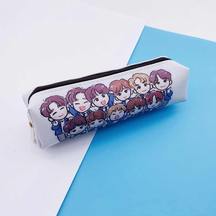 Kpop x1 x uma combinação produzir x 101 caneta saco caixa de lápis saco de maquiagem papelaria carteira concerto mesmo voando em torno da carteira