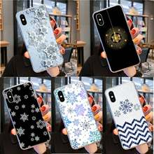 RuiCaiCa Beautiful snowflake DIY Painted Beautiful Phone Case for iPhone 11 pro XS MAX 8 7 6 6S Plus X 5 5S SE XR cover(China)