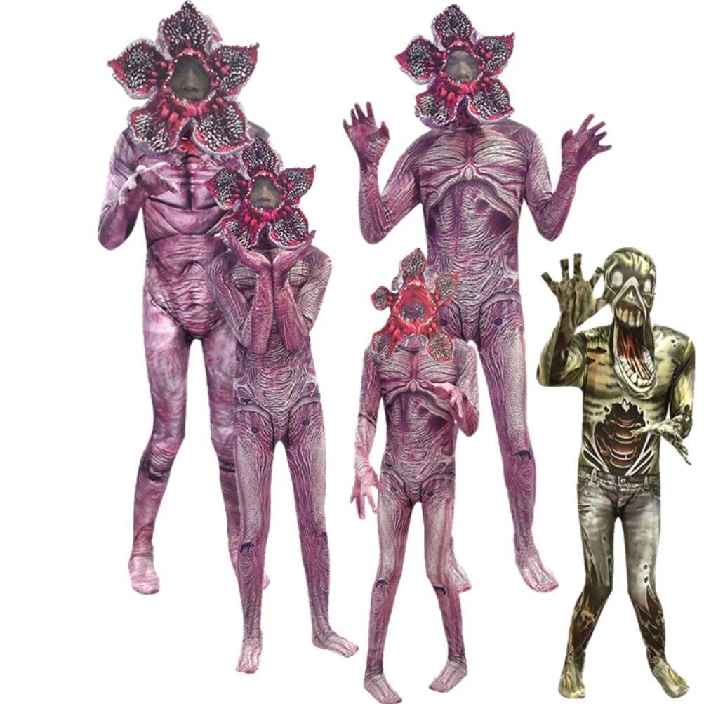 Demogorgon déguisement d'halloween pour enfants étranger choses homme-mangeur fleur effrayant forteresse Cosplay carnaval fête effrayant vêtements masque