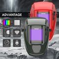 YESWELDER настоящий цвет Сварочная маска Солнечная энергия сварочный шлем авто затемнение Сварочная бленда для TIG MIG ARC EH-091X-G/R