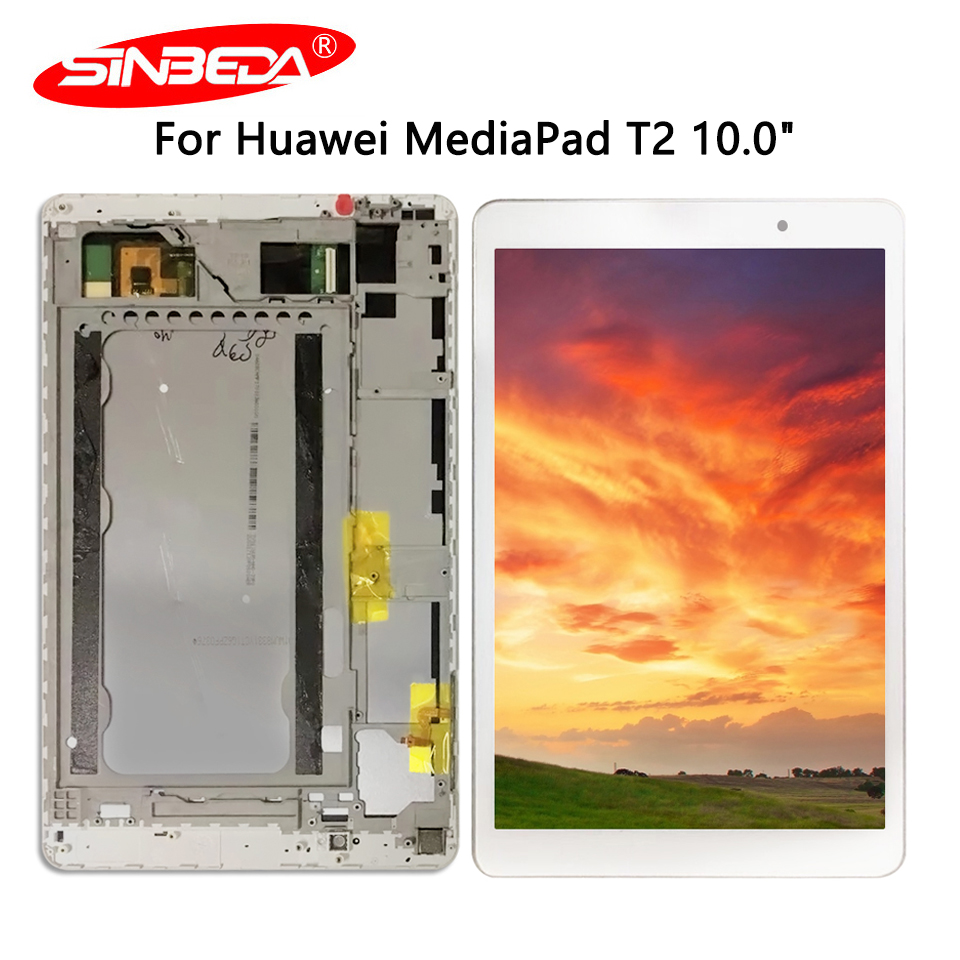 Sinbeda For Huawei MediaPad T2 10.0 Pro LCD 10 inch FDR-A01L FDR-A01W FDR-A03 With Frame Display Touch Digitizer Screen image